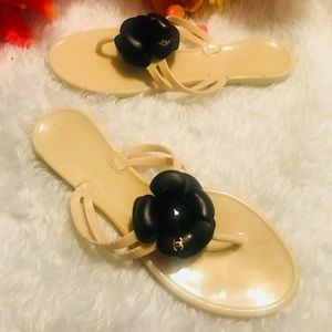 Authentic Chanel Jelly Thongs
